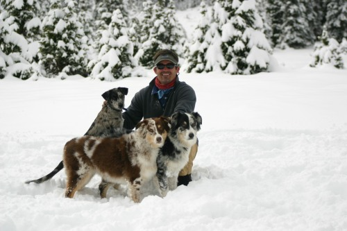 Boone and his babies! Berin, Meagan, & Molly :: Photo by: Don Boone.