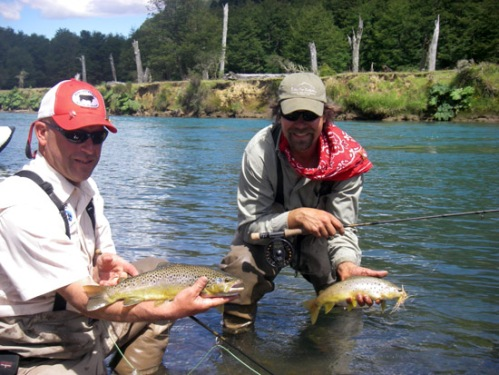 Adam and Skip with some smaller fish. Photo by: Brent Boone
