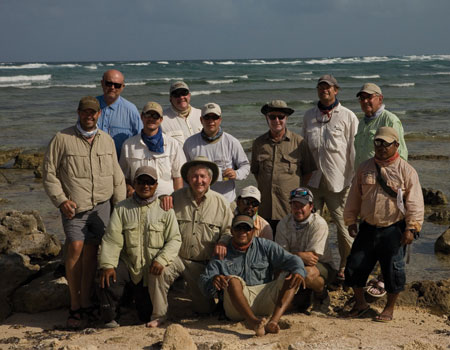 The group on the beach after a day in the sun.  Photo by:  David Leake