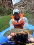 "Bart with a big 24"" Brown in the Black Canyon of the Gunnison. Photo by: Ben Olsen"