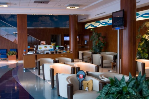 Transaero Business Lounge. Photo by: Brent Boone