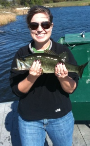 Another bass for Amy. I admit it - she outfished me.